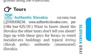 Lonely Planet recommends Authentic Slovakia
