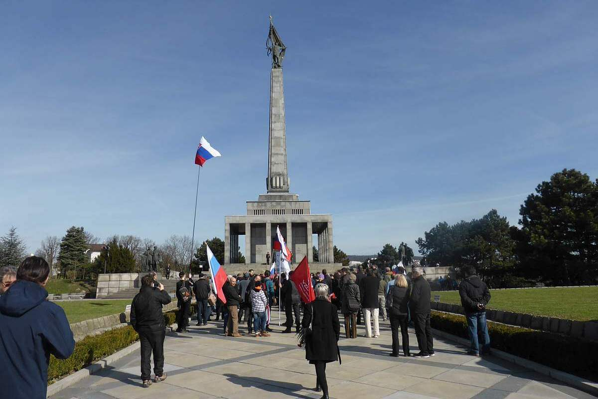 Slavin WWII memorial in Bratislava, Slovakia