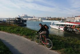 Iron Curtain Bike Tour by the Danube river in Bratislava