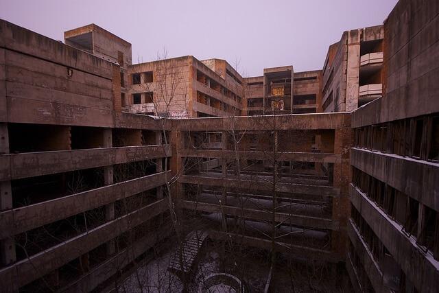 ruins of a hospital