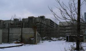 Ruins of a hospital in Bratislava