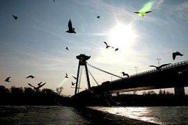 The SNP Bridge in Bratislava