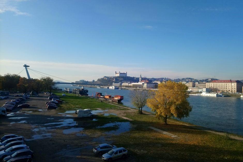 Bratislava Skyline with SNP Bridge