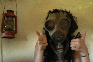 Mask in bunker