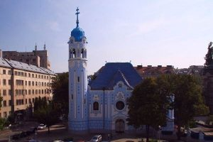 the Blue church - Art Nouveau style churchm beloved by the foreigners