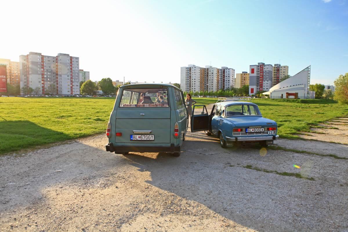 Skoda cars in Petrzalka, Bratislava
