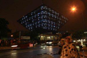 The inverted pyramid - Slovak Radio Building, contruction 1967-1983