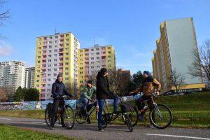 Bike routes in Bratislava, Petrzalka