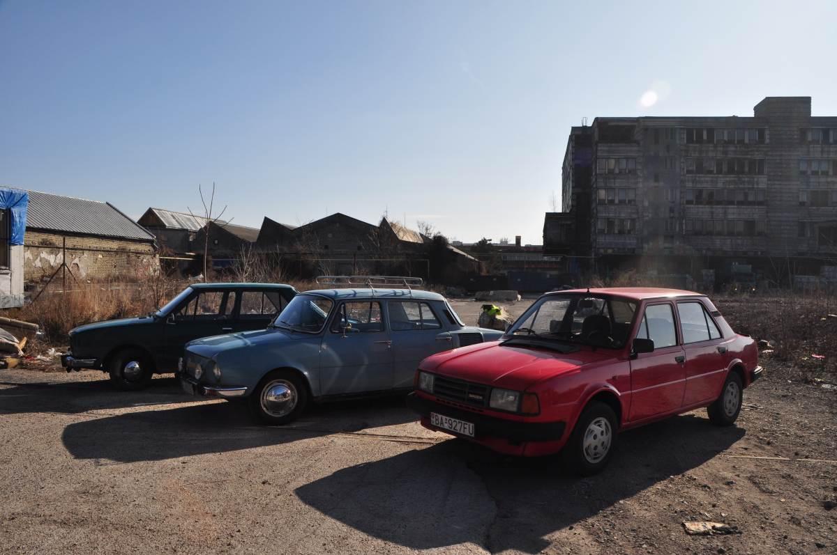 Urbex Bratislava Matador and Enamel factory with Skoda cars