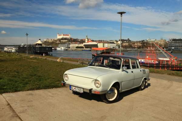 Retro classic Skoda car 110 Bratislava